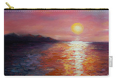 Sunset In Ixtapa Carry-all Pouch by Marlene Book