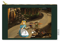 Carry-all Pouch featuring the painting Tammy Meets Cedric The Mongoose by Reynold Jay