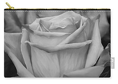 Tea Roses In Black And White Carry-all Pouch