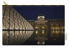 The Louvre Palace And The Pyramid At Night Carry-all Pouch by RicardMN Photography