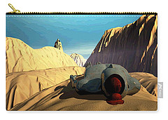 Carry-all Pouch featuring the digital art The Midlife Dreamer by John Alexander