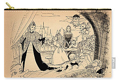 Carry-all Pouch featuring the drawing The Palace Balcony by Reynold Jay