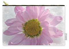 Carry-all Pouch featuring the photograph The Whisper Of A Snow Blossom by Angela Davies