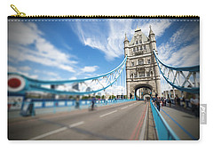 Carry-all Pouch featuring the photograph Tower Bridge In London by Chevy Fleet