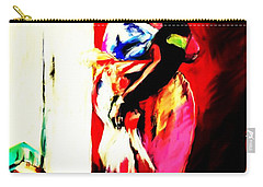 Carry-all Pouch featuring the painting Ugunda Fish Lady by Vannetta Ferguson
