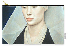 Carry-all Pouch featuring the photograph Van Der Weyden's Portrait Of A Lady by Cora Wandel