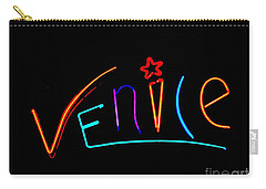 Carry-all Pouch featuring the photograph Venice Cafe' by Kelly Awad