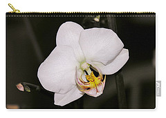 Carry-all Pouch featuring the photograph White Orchid by Sherman Perry