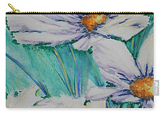 Carry-all Pouch featuring the painting Wild Daisys by Chrisann Ellis