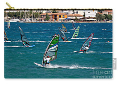 Windsurfing In Vasiliki Bay Carry-all Pouch