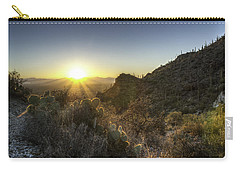 Carry-all Pouch featuring the photograph Winter Sunset by Lynn Geoffroy