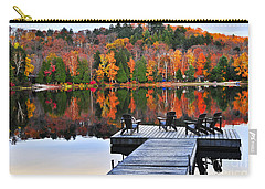 Wooden Dock On Autumn Lake Carry-all Pouch