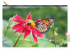 Carry-all Pouch featuring the photograph Working Together by Karen Silvestri