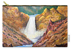 Yellowstone Falls Carry-all Pouch by Lou Ann Bagnall