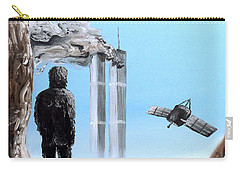 Carry-all Pouch featuring the painting 2012-confronting Inevitability by Ryan Demaree