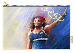 2012 Tennis Olympics Gold Medal Serena Williams Carry-all Pouch by Miki De Goodaboom