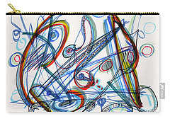2013 Abstract Drawing #12 Carry-all Pouch