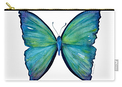 21 Blue Aega Butterfly Carry-all Pouch
