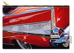 1957 Chevy Bel Air Custom Hot Rod Carry-all Pouch by David Patterson