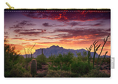 A Superstition Sunrise  Carry-all Pouch