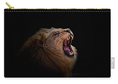 Carry-all Pouch featuring the photograph African Lion by Peter Lakomy