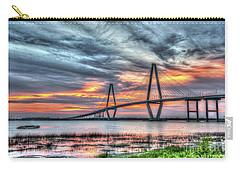 Arthur Ravenel Bridge Stormy Skies Carry-all Pouch