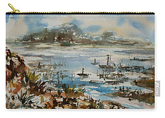 Carry-all Pouch featuring the painting Bay Scene by Xueling Zou