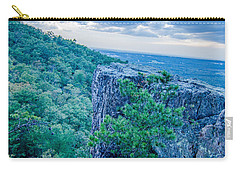 Carry-all Pouch featuring the photograph Beautiful Aerial Landscape Views From Crowders Mountain Near Gas by Alex Grichenko