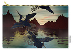 3 Black Herons At Sunset Carry-all Pouch