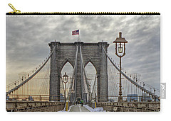 Carry-all Pouch featuring the photograph Brooklyn Bridge by Jerry Gammon