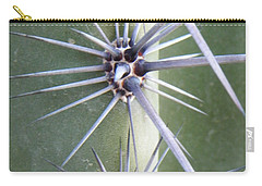 Carry-all Pouch featuring the photograph Cactus Thorns by Deb Halloran