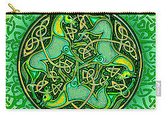3 Celtic Irish Horses Carry-all Pouch