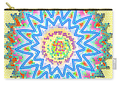 Colorful Signature Art Chakra Round Mandala By Navinjoshi At Fineartamerica.com Rare Fineart Images  Carry-all Pouch
