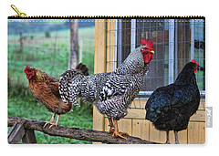 3 Chickens Carry-all Pouch by Denise Romano