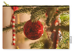 Carry-all Pouch featuring the photograph Christmas Tree Ornaments by Alex Grichenko