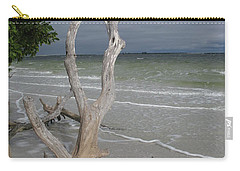Carry-all Pouch featuring the photograph Driftwood On The Beach by Christiane Schulze Art And Photography