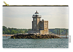 Carry-all Pouch featuring the photograph Huntington Lighthouse by Karen Silvestri