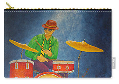 Jazz Drummer Carry-all Pouch by Pamela Allegretto