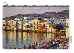 Little Venice In Mykonos Island Carry-all Pouch