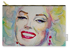 Carry-all Pouch featuring the painting Marilyn by Laur Iduc