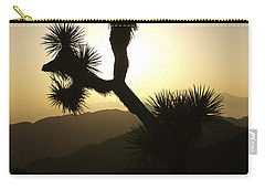 New Photographic Art Print For Sale Joshua Tree At Sunset Carry-all Pouch