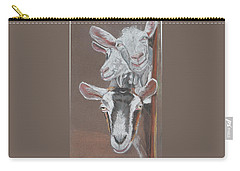 3 Nosey Goats Carry-all Pouch