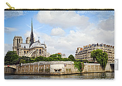 Notre Dame De Paris Carry-all Pouch by Elena Elisseeva