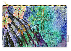 Praying Hands Flowers And Cross Carry-all Pouch