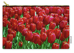 Carry-all Pouch featuring the photograph Red Tulips  by Allen Beatty