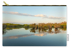 Reflection Of Trees In A Lake, Anhinga Carry-all Pouch