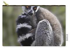Ring-tailed Lemur Carry-all Pouch by Liz Leyden