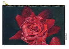3 Roses Red Carry-all Pouch by Katherine Miller