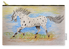Running Free Carry-all Pouch by Debbie Portwood