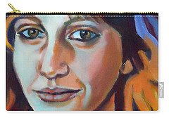 Carry-all Pouch featuring the painting Self Portrait  by Helena Wierzbicki